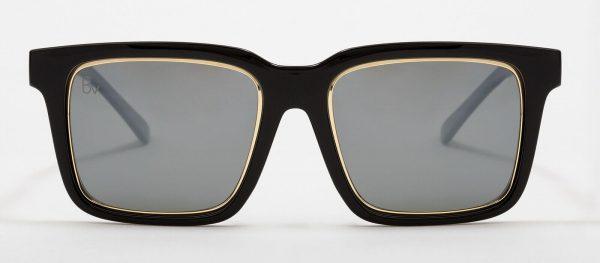 Gafas de sol con filete dorado