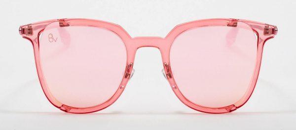 Gafas de sol con cristal rosado