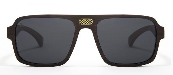 Gafas de sol de madera de ébano negro