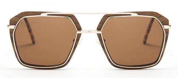 Gafas de sol de madera de nogal